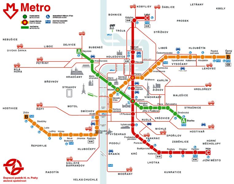 Metro praha plán